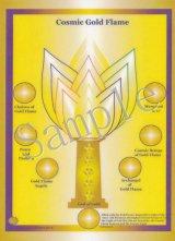 コズミックシリーズホログラム・Cosmic Gold Flame-コズミック・ゴールド・フレーム-