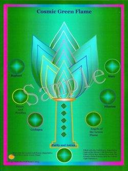 画像1: Cosmic Green Flame -コズミック・グリーン・フレーム- コズミックシリーズホログラム