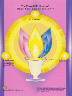 画像1: Three Fold Flame Hologram(スリーフォルドフレームホログラム) -三枚の花びらの炎のホログラム-